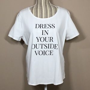 Chico's Dress In Your Outside Voice Tee